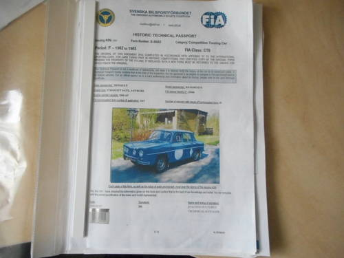 1965 RENAULT 8 GORDINI R1134 reduced in price!!! For Sale (picture 6 of 6)