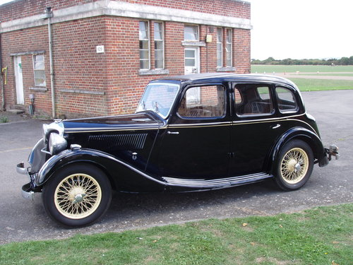 1937 Riley 12/4 Adelphi saloon For Sale (picture 1 of 6)