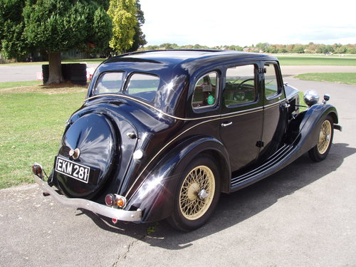 1937 Riley 12/4 Adelphi saloon For Sale (picture 2 of 6)