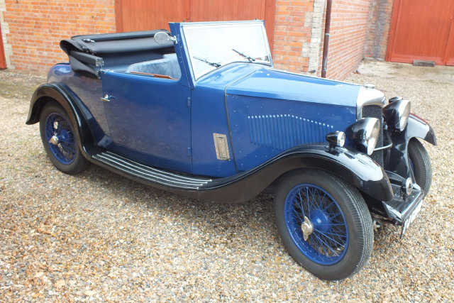 1934 A rare Riley 9 Ascot two four/seat drop head coupe. For Sale (picture 1 of 6)
