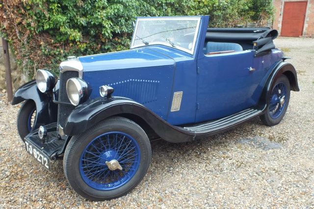 1934 A rare Riley 9 Ascot two four/seat drop head coupe. For Sale (picture 2 of 6)