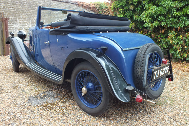 1934 A rare Riley 9 Ascot two four/seat drop head coupe. For Sale (picture 3 of 6)