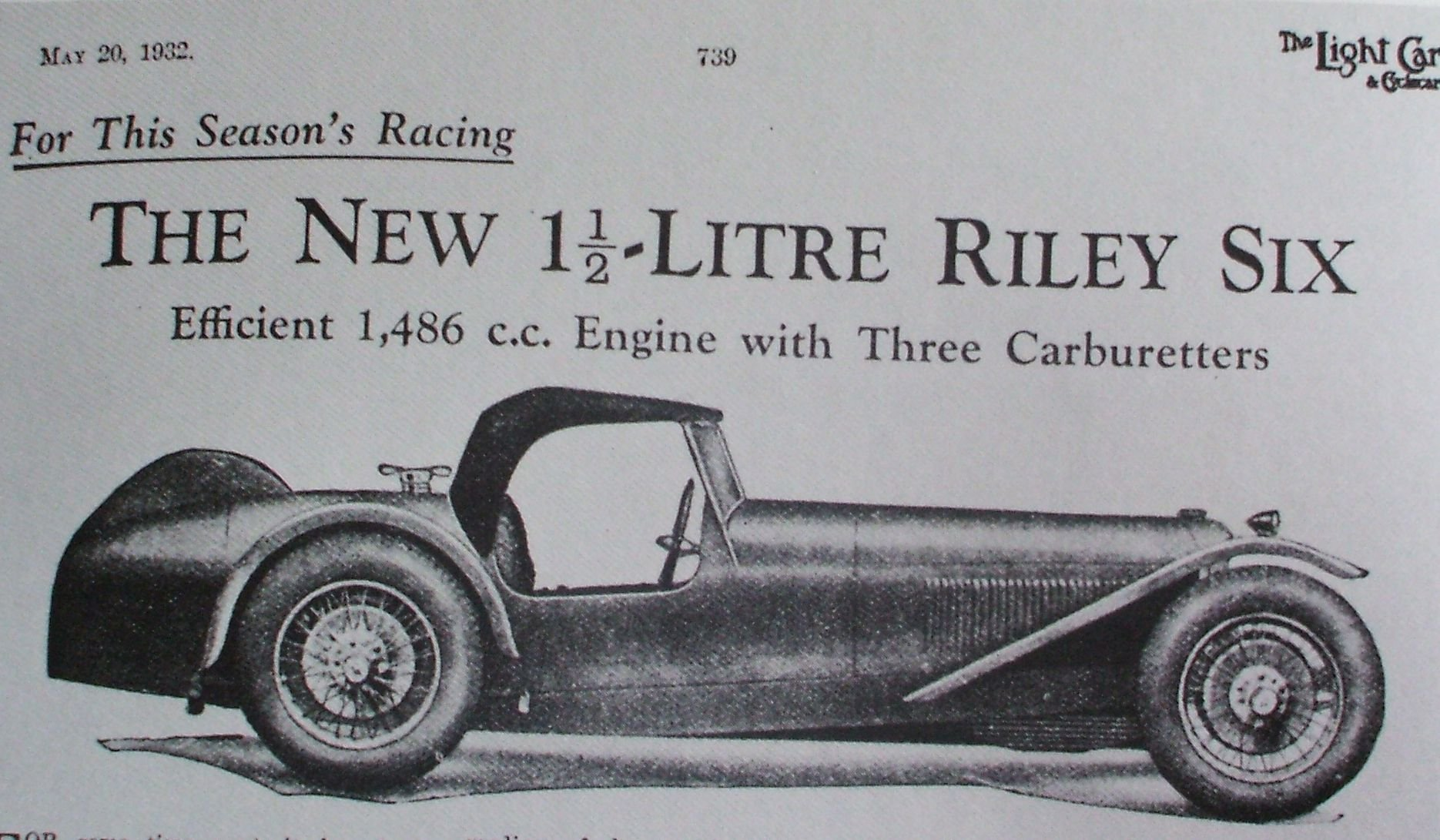 1932 Riley Brooklands Six  For Sale (picture 1 of 6)