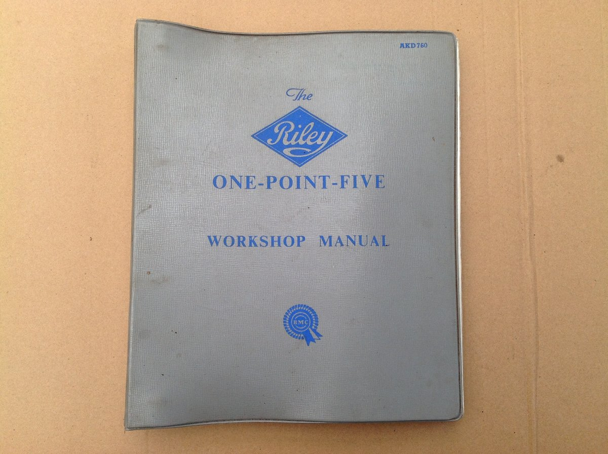 Riley One-Point-Five Workshop Manual AKD760 For Sale (picture 1 of 6)