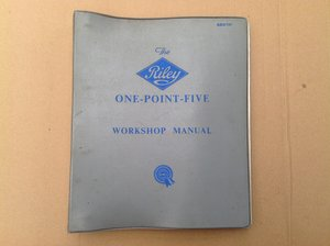 Riley One-Point-Five Workshop Manual AKD760 For Sale