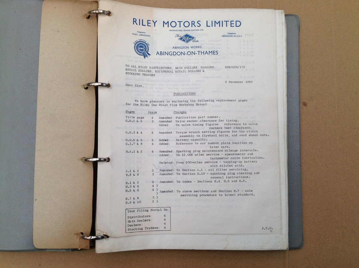 Riley One-Point-Five Workshop Manual AKD760 For Sale (picture 2 of 6)