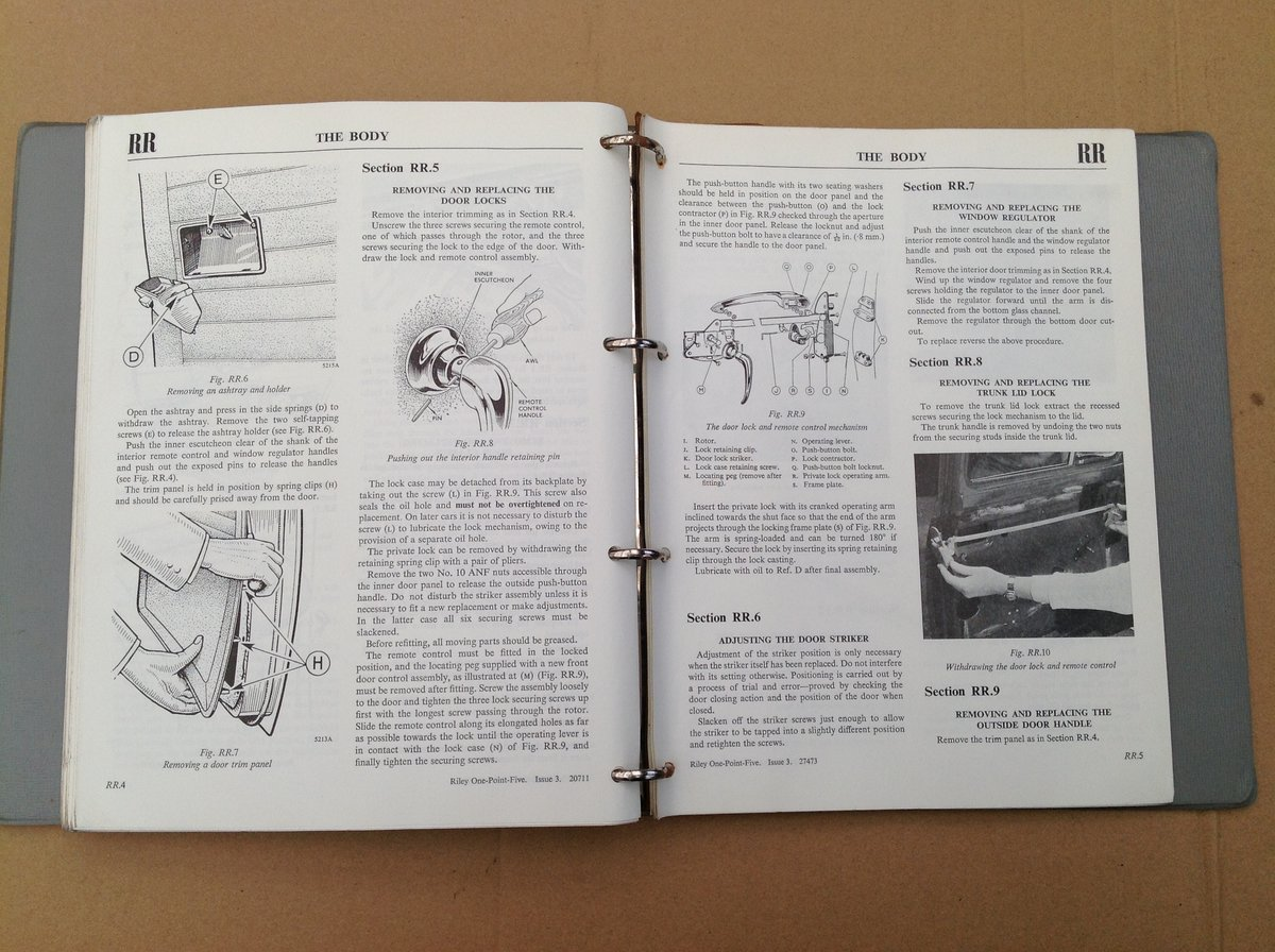 Riley One-Point-Five Workshop Manual AKD760 For Sale (picture 5 of 6)