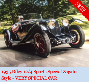 1935 Riley 12/4 Sports Special Zagato style - VERY SPECIAL