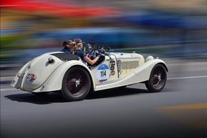 1936 RILEY 12/4 SPRITE, entrant in 7 Mille Miglia editions