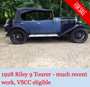 1928 Riley 9 Tourer - ideal VSCC car