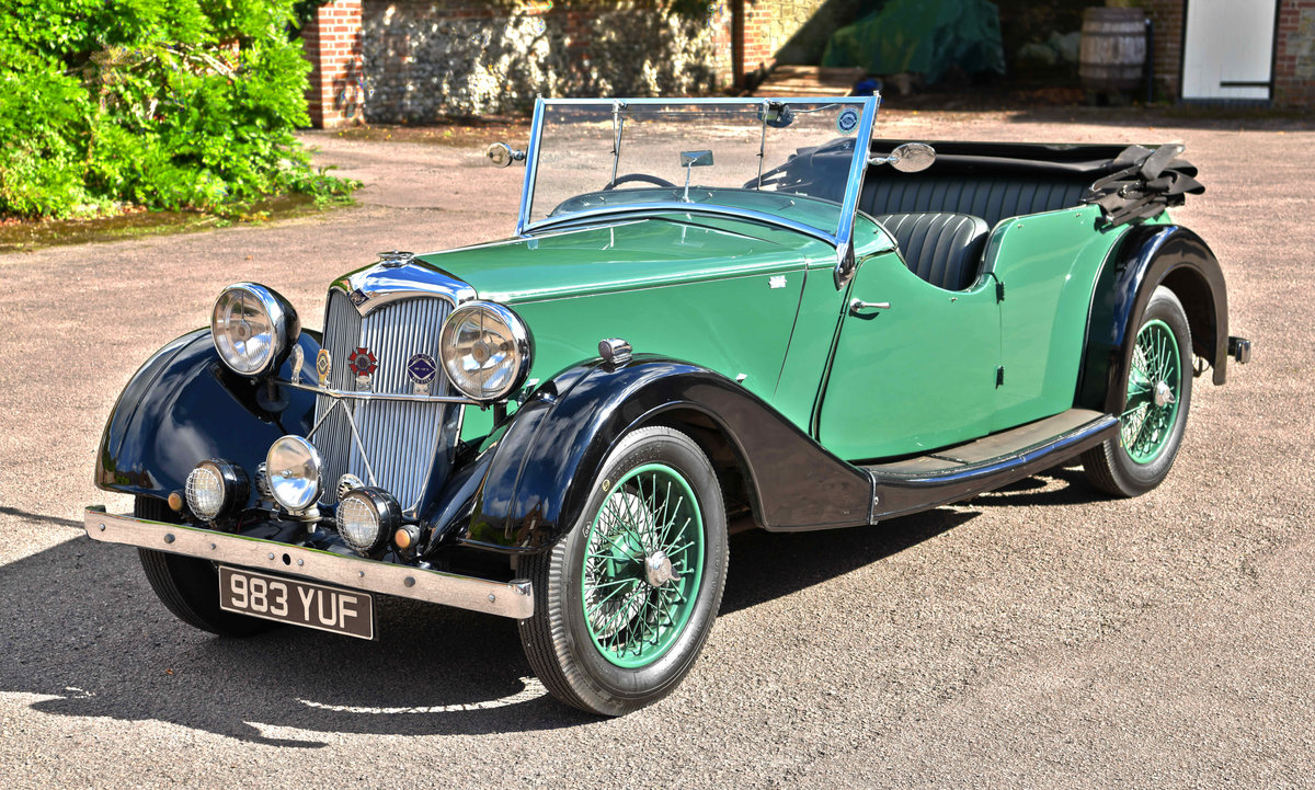 1938 Riley 12/4 TOURER COACHWORK BY WILKINSON & SON OF DERBY For Sale (picture 1 of 6)