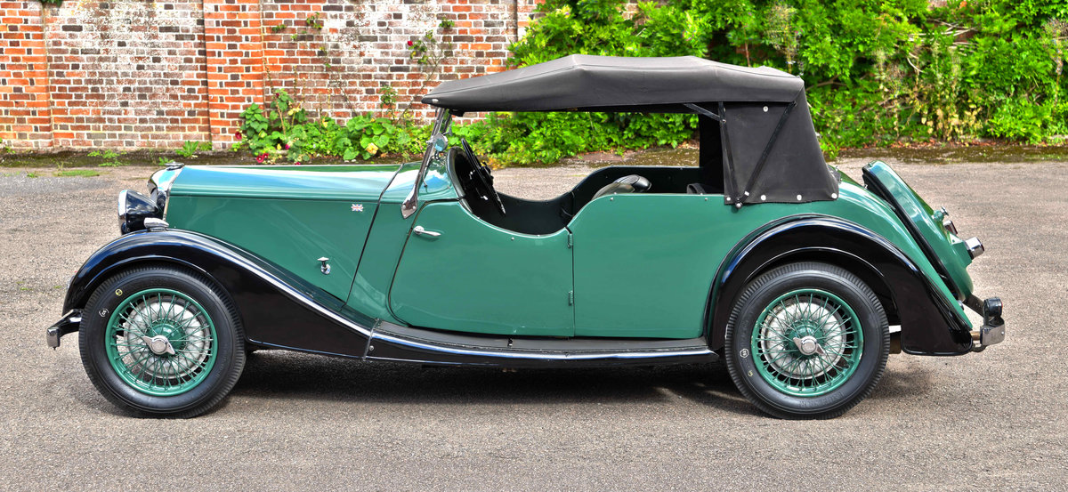 1938 Riley 12/4 TOURER COACHWORK BY WILKINSON & SON OF DERBY For Sale (picture 3 of 6)