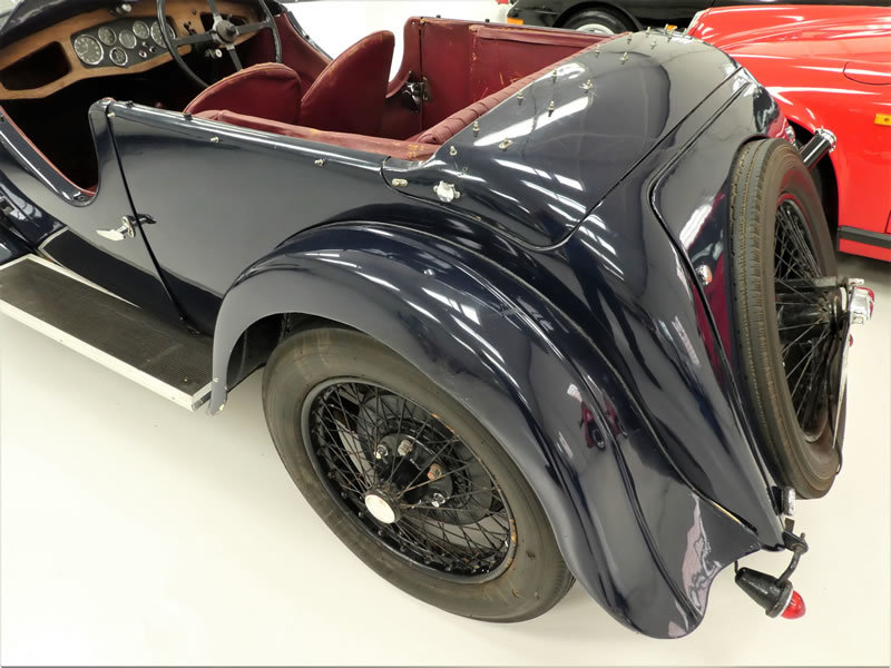 1933 Riley 9 Lynx 4 Seater Tourer - Disappearing Hood For Sale (picture 5 of 6)