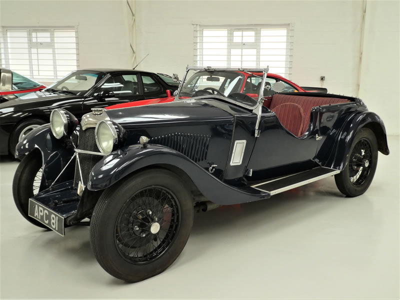 1933 Riley 9 Lynx 4 Seater Tourer - Disappearing Hood For Sale (picture 2 of 6)
