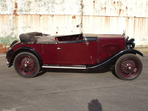 1932 Riley 9 Holbrook tourer For Sale (picture 1 of 6)