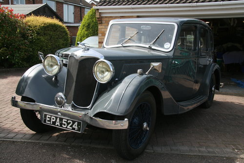 1936 Riley 12/4 Adelphi for sale in Hampshire... SOLD (picture 1 of 4)