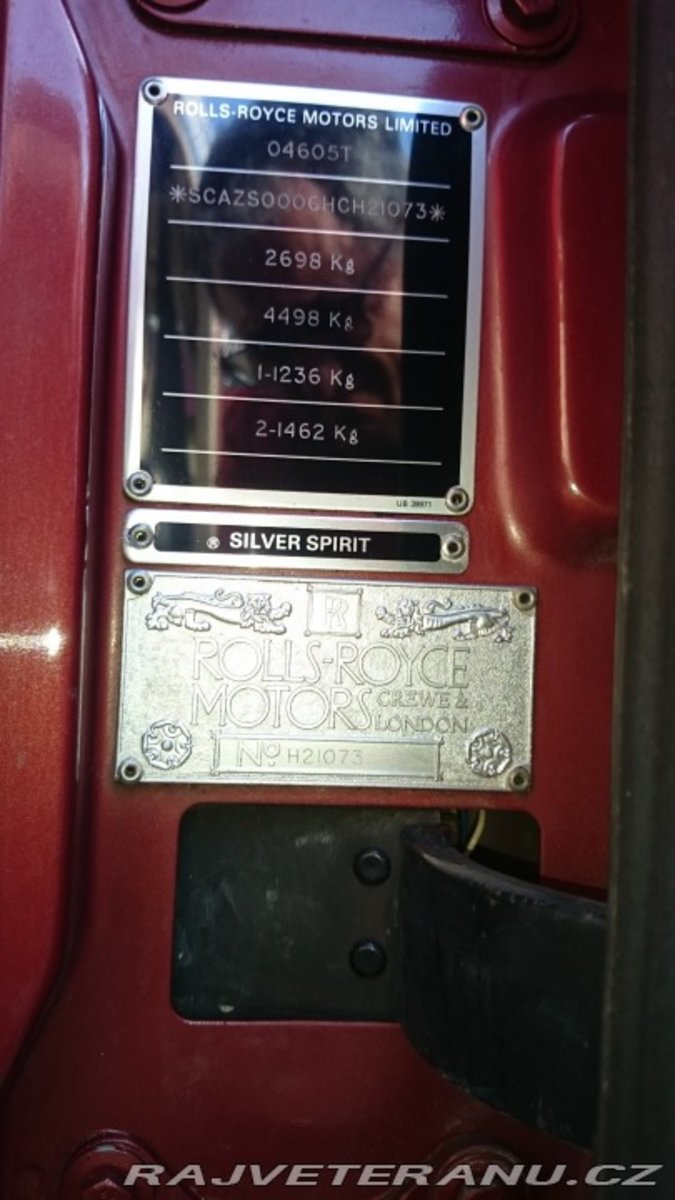 1987 Rolls Royce Silver Spirit Saloon For Sale (picture 9 of 9)