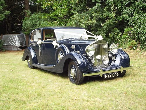 1939 ROLLS ROYCE WRAITH by H J MULLINER 4 DOOR RAZOR SPORTS LIMO  SOLD (picture 3 of 6)