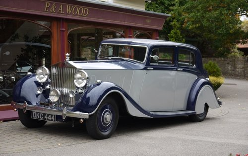 Rolls-Royce Phantom III 1937 4-door Sports Saloon by Hooper For Sale (picture 1 of 3)