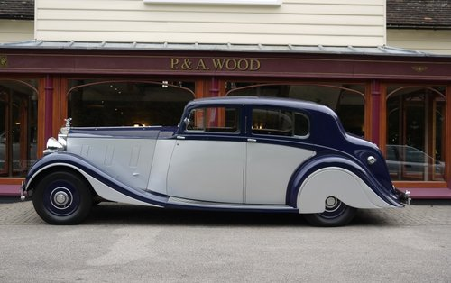 Rolls-Royce Phantom III 1937 4-door Sports Saloon by Hooper For Sale (picture 2 of 3)