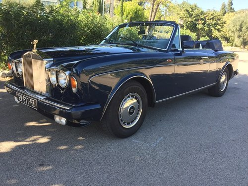 1986 Rolls Royce Corniche Convertible left hand drive For Sale (picture 1 of 6)