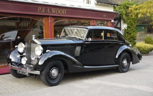 Rolls-Royce Phantom III 1938 Sports Saloon by Gurney Nutting For Sale (picture 1 of 4)