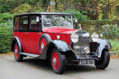 1934 Rolls-Royce 20/25 Hooper Limousine GKC7 For Sale (picture 1 of 6)