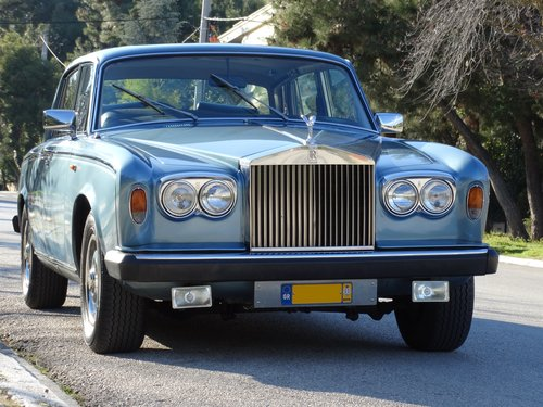 1977 Rolls Royce Silver Shadow II, elegant Caribbean Blue For Sale (picture 1 of 6)