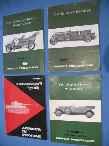 Four Profile Publications - RR/Bentley and Tiger 1 For Sale (picture 1 of 6)