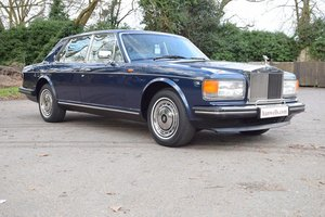 1990 H Rolls Royce Silver Spirit MK II in Royal Blue For Sale