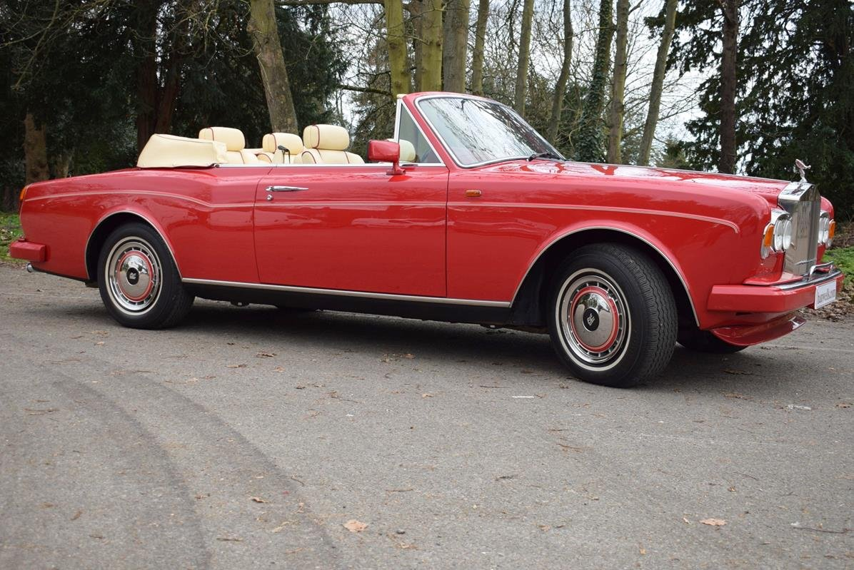 1992 K Rolls Royce Corniche Convertible III in Vermillion For Sale (picture 1 of 6)