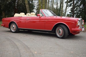 1992 K Rolls Royce Corniche Convertible III in Vermillion For Sale