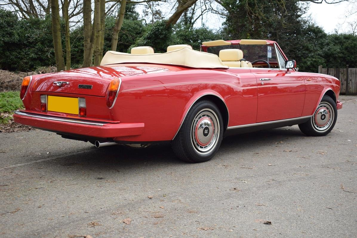 1992 K Rolls Royce Corniche Convertible III in Vermillion For Sale (picture 5 of 6)