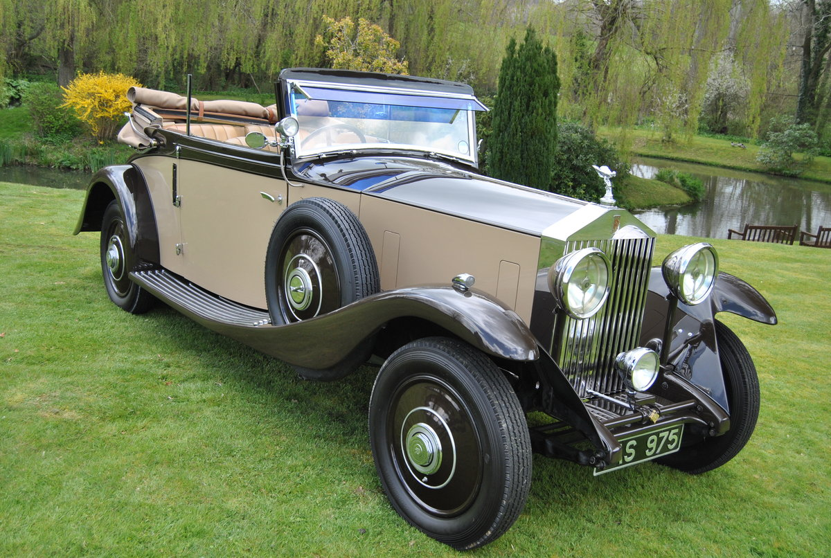 1933 ROLLS-ROYCE 20/25 THREE POSITION DROPHEAD COUPE BY VANDEN PL For Sale (picture 1 of 6)
