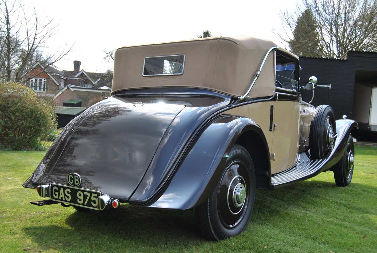 1933 ROLLS-ROYCE 20/25 THREE POSITION DROPHEAD COUPE BY VANDEN PL For Sale (picture 2 of 6)
