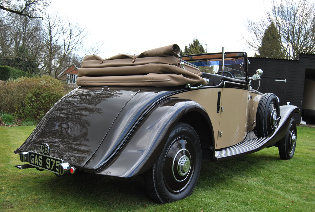 1933 ROLLS-ROYCE 20/25 THREE POSITION DROPHEAD COUPE BY VANDEN PL For Sale (picture 3 of 6)