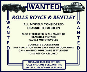 WANTED! ROLLS ROYCE