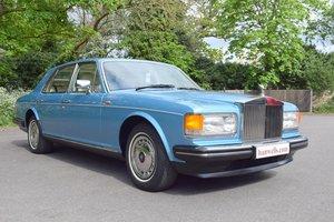 1990 G Rolls Royce Silver Spirit MK II in Rhapsody Blue For Sale