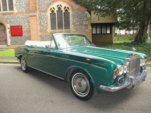 ROLLS ROYCE CORNICHE CONVERTIBLE 1971 2 OWNERS FSH For Sale