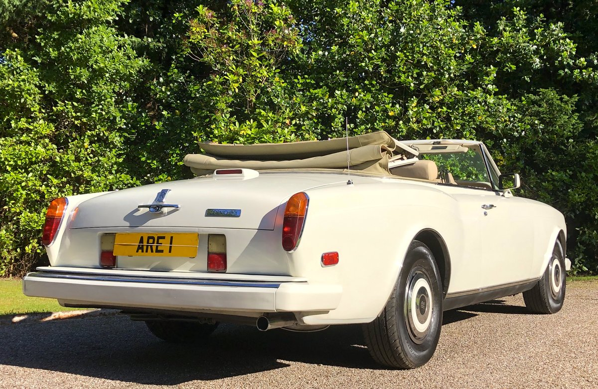 1988 ROLLS ROYCE CORNICHE CONVERTIBLE MKII      LHD For Sale (picture 6 of 6)