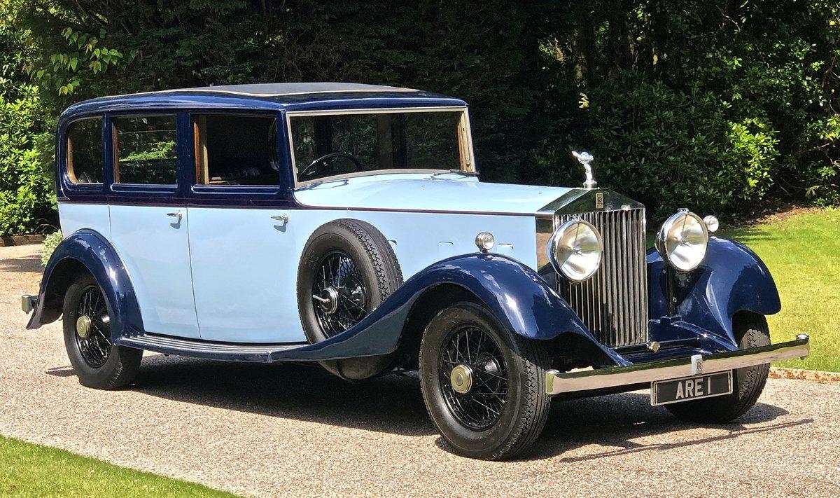 1934 ROLLS ROCYE PHANTOM II Park Ward Limousine For Sale (picture 1 of 6)