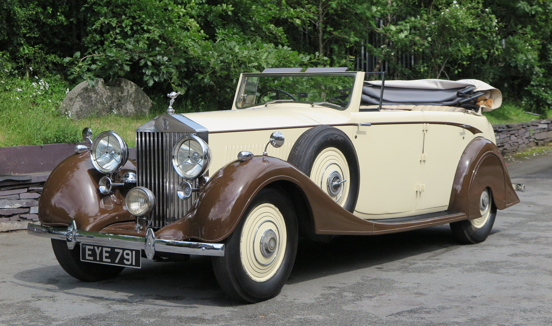 1938 Rolls-Royce 25/30 Park Ward 4 Dr  Cabriolet GGR54 For Sale (picture 1 of 6)
