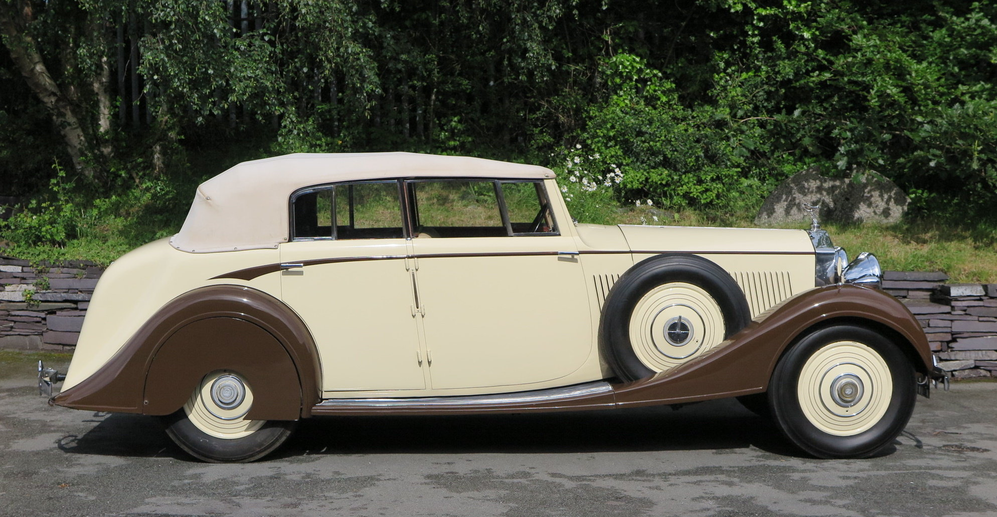 1938 Rolls-Royce 25/30 Park Ward 4 Dr  Cabriolet GGR54 For Sale (picture 2 of 6)