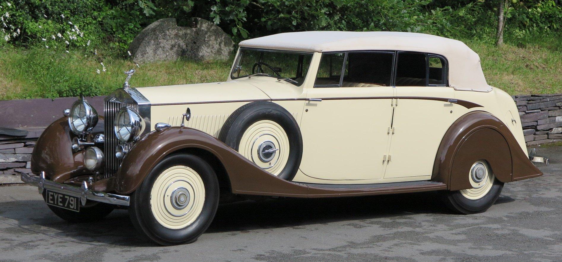 1938 Rolls-Royce 25/30 Park Ward 4 Dr  Cabriolet GGR54 For Sale (picture 3 of 6)