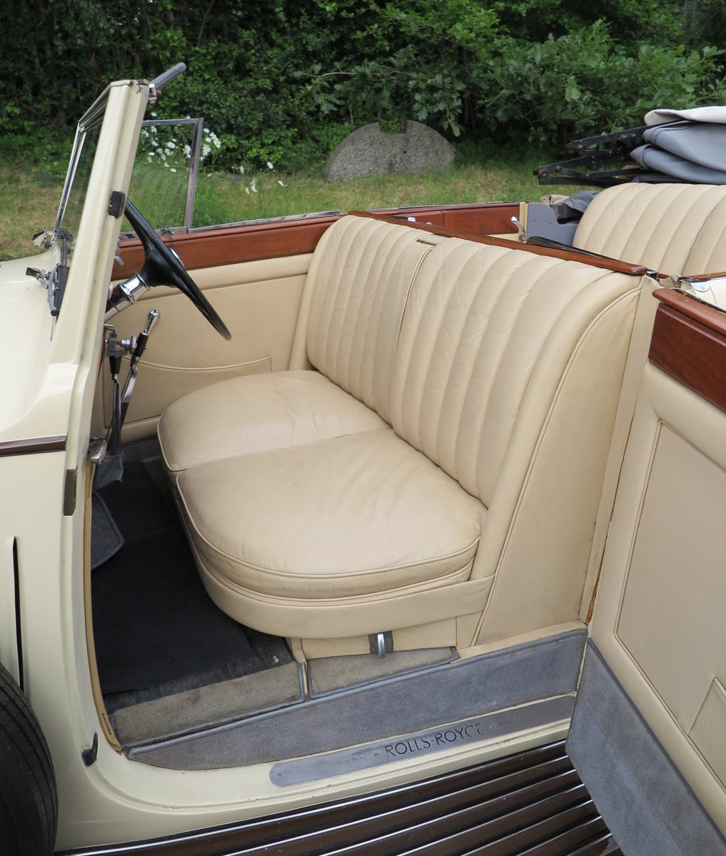 1938 Rolls-Royce 25/30 Park Ward 4 Dr  Cabriolet GGR54 For Sale (picture 5 of 6)