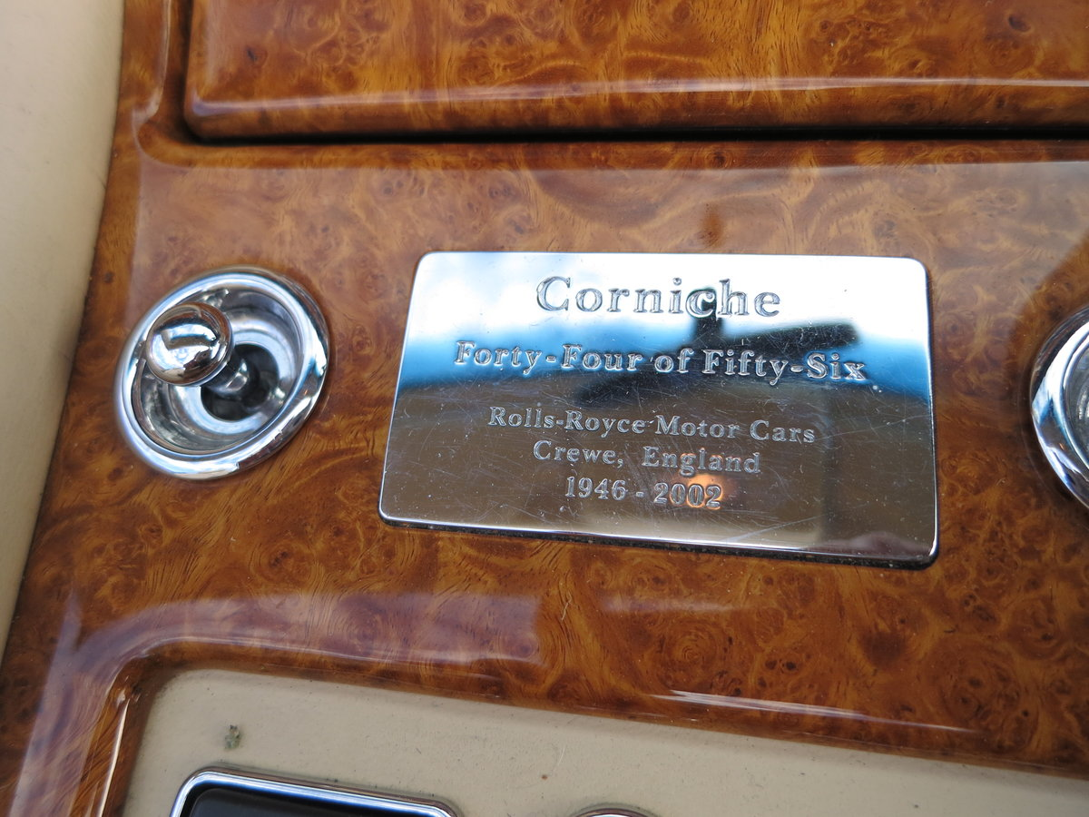 2002 Rolls-Royce Corniche Final series SOLD (picture 5 of 6)