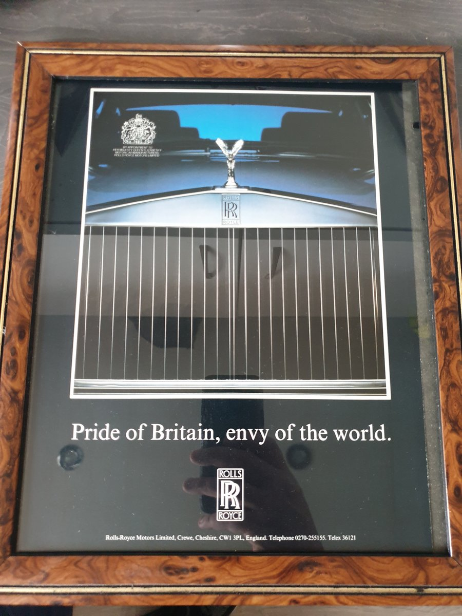 1985 Rolls-Royce advert Original  For Sale (picture 1 of 2)