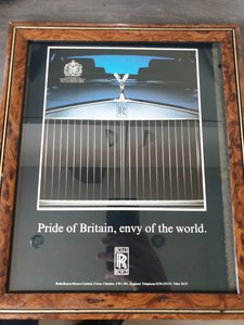 1985 Rolls-Royce advert Original