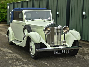 1934 Rolls Royce 20/25 Drop Head Coupe For Sale