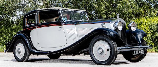 1933 ROLLS-ROYCE 20/25 COUPÉ DE VILLE For Sale by Auction